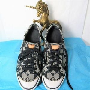 Coach Barrett Black/White Signature Fabric Sneaker